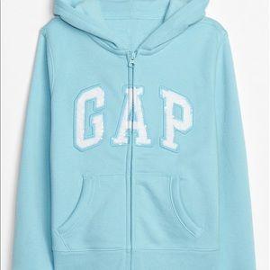 Girls Baby Blue GAP Fleece Zip Up Jacket